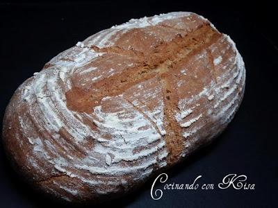 Receta Pan con harina de trigo sarraceno (amasadora y horno tradicional) para cocinando con kisa