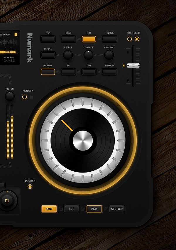 DJ Midi Controller by Emile Rohlandt, via Behance #music #btn #slide #bar: