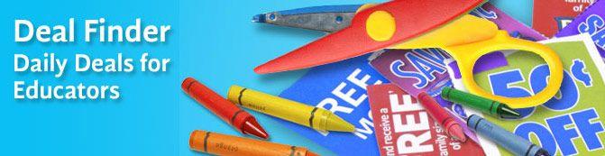 Deal finder for educators.... visit often or sign up for deal email blasts!