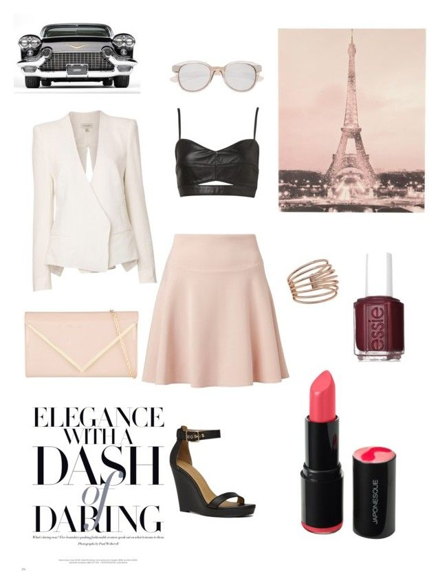 Pretty in blush by sapphirereport on Polyvore featuring polyvore, fashion, style, Witchery, ALDO and Essie