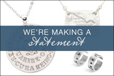Here at Kitsy Lane, style is our favorite form of self-expression and  we're taking it one step further with messaged charms and stated pendants. They're  as adorable as they are expressive, and now you can share your story through your  favorite accessories!