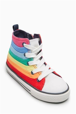 7a7931212e9e0e Rainbow High Top Trainers (Younger Girls)