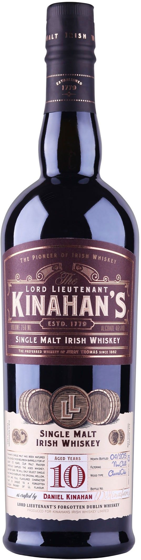Kinahan's 10 Year Old Single Malt Irish Whiskey | @Caskers