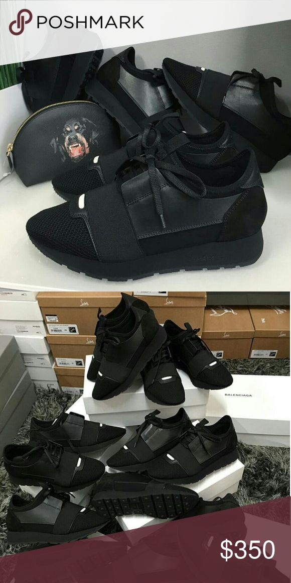 "Balenciaga Runner Men & Womens Black Brand New Deadstock 100% Mens & Womens sizes Available Box And Tags Included Overnight Shipping on ALL! Orders🎉 For Sizing and Orders.  TE. XT.  ▶630 -   728.""  -   8781 ◀ Balenciaga Shoes Sneakers"