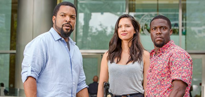 Kevin Hart, Ice Cube and Olivia Munn star in the comedy sequel Ride Along 2.