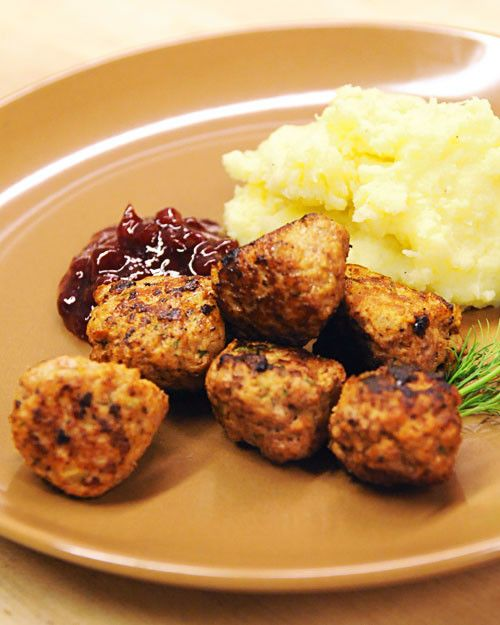 A hearty mixture of ground sirloin, pork, and veal form the base of this family recipe for Swedish meatballs from designer Lars Bolander.