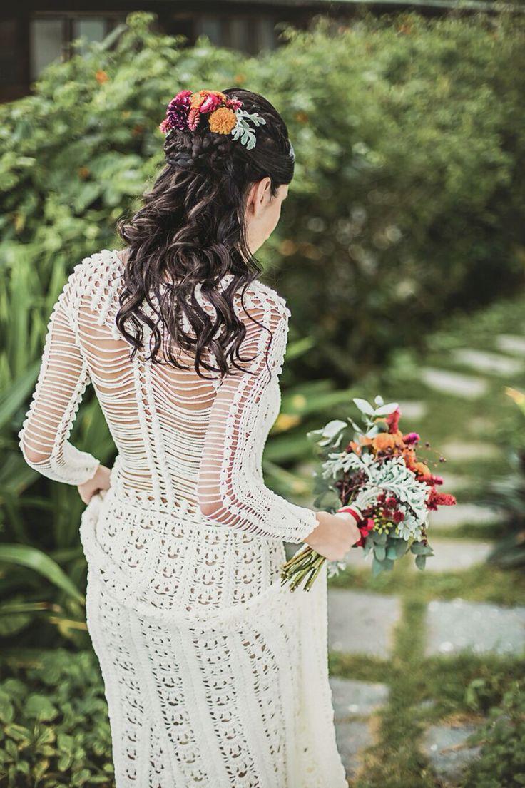 My wedding dress. Crochet! Handmade! By Helen Rödel! ✨