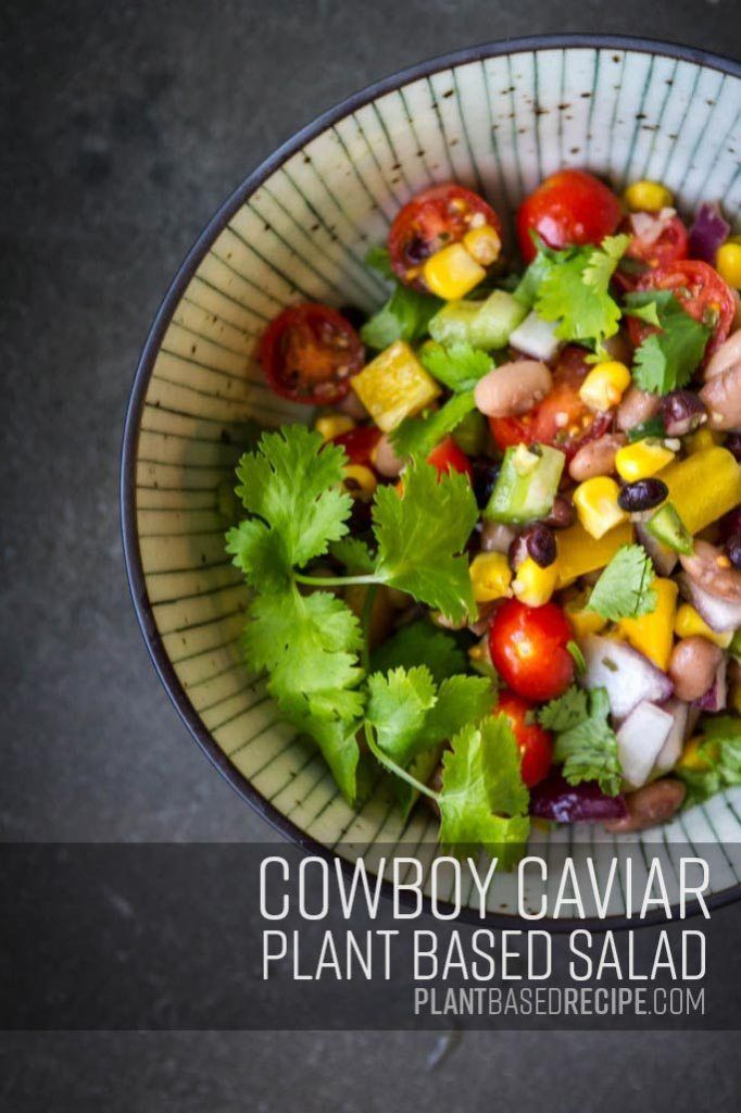 Savory Sweet Spicy Vegan Bean Salad Cowboy Caviar