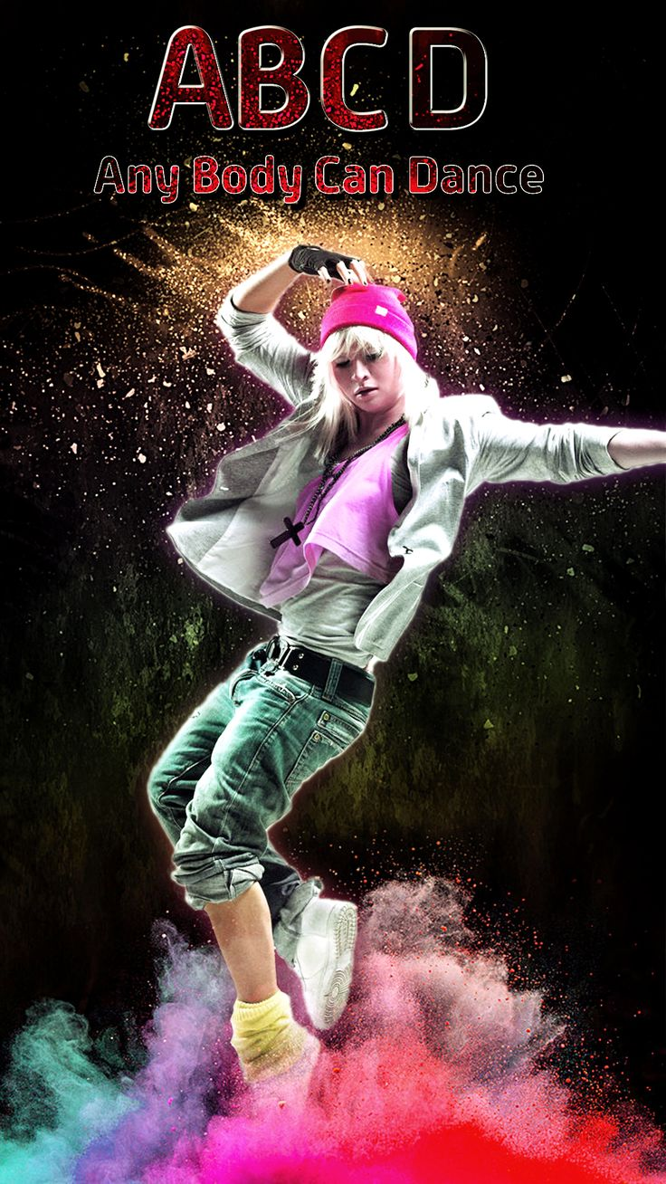 Dance poster dance abcd hip up color poster dance