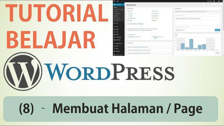 Belajar Wordpress - (8) Membuat Halaman / Page