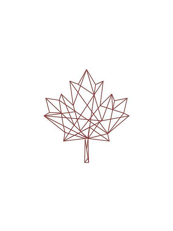 Love this >> Geometric Print, Pink on White Geometric Maple Leaf Print, Purple Wall Artwork, Geometric Artwork, Printable Artwork, Wall Decor