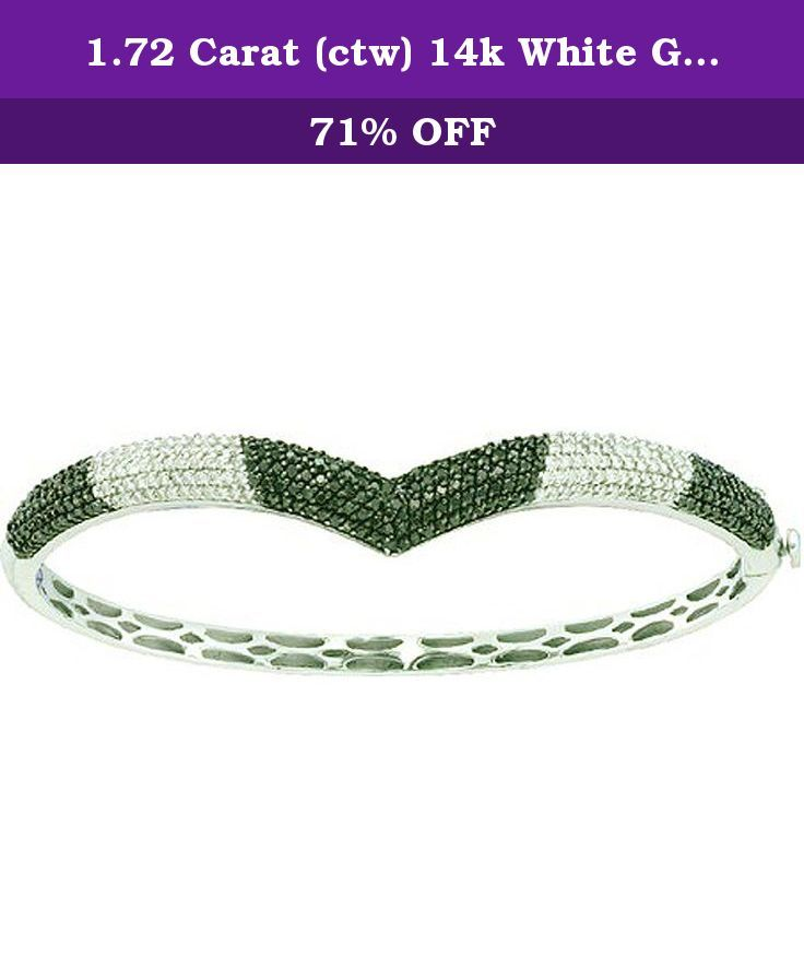 1.72 Carat (ctw) 14k White Gold Round White & Black Diamond Ladies Fashion Bangle Bracelet. This lovely diamond bracelet feature 1.72 ct white & black diamonds in prong setting. All diamonds are sparkling and 100% natural. All our products with FREE gift box and 100% Satisfaction guarantee. SKU # GD54058.