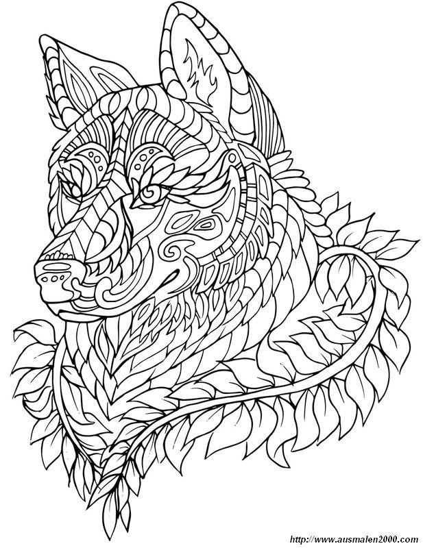 Best Images Coloring Pages Wolf Concepts The Stunning Element Concerning  Dyes Is It Will B… In 2021 Animal Coloring Pages, Abstract Coloring Pages,  Mandala Coloring Pages