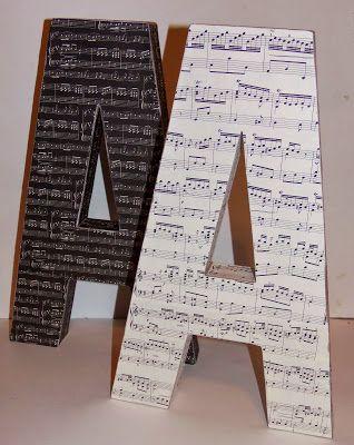 DIY- sheet music letters-live. love. scrap.