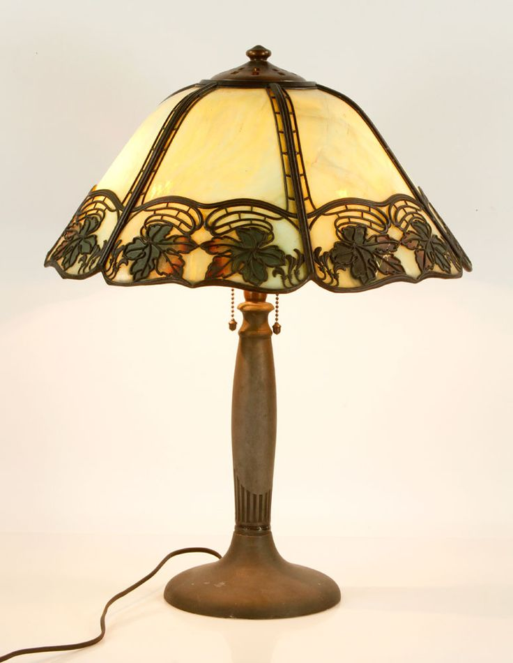 6036 handel slag glass lamp july 10th military and estate auction official
