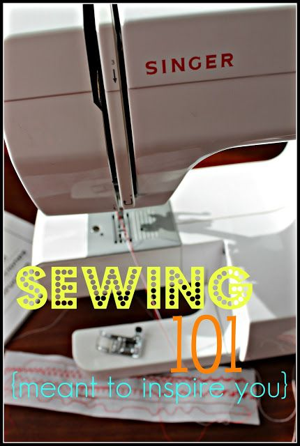 Now that it's getting cold - time to find a new hobby! How about sewing???  Sewing Machine 101 {meant to inspire you!}