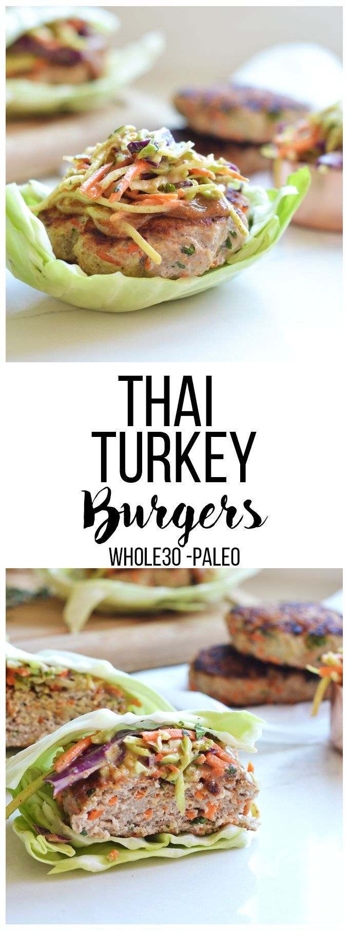 #ad These Thai Turkey Burgers are Whole30 compliant, full of flavor and perfect for any summer barbecue! #turkeylovers #serveturkey