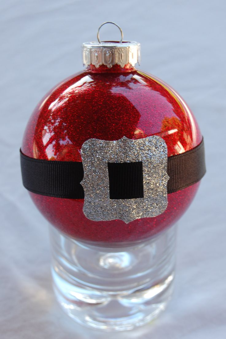 Santabelt Ornament (i've Made 10 Of These): I Decorated Clear Plastic  Ornamentsglitter Ornamentsxmas