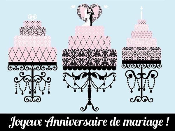 1 ans 2 ans 10 ans 15 ansles annes - Cybercarte Anniversaire De Mariage
