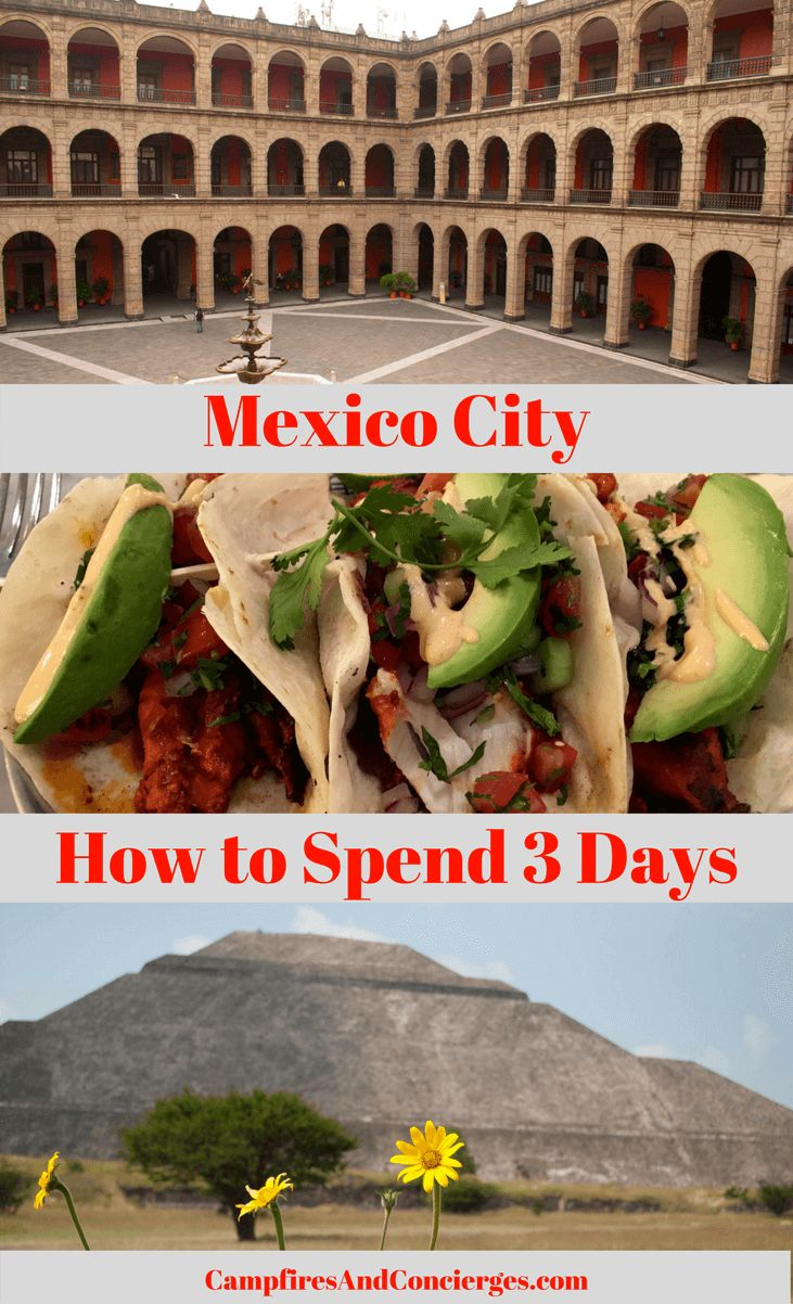 Mexico City Itinerary 3 Days in Mexico City, Mexico Teotihuacan Pyramids, Anthropology Museum, Polanco Taco Tour #mexico #mexicocity