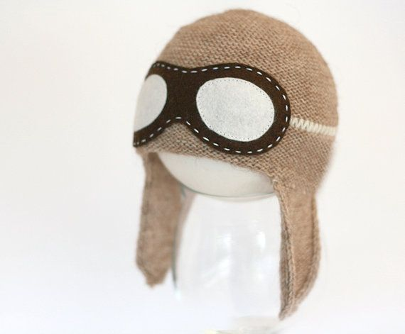 Newborn aviator hat   Baby Pilot hat  Aviator hat by TreMelarance, €23.00