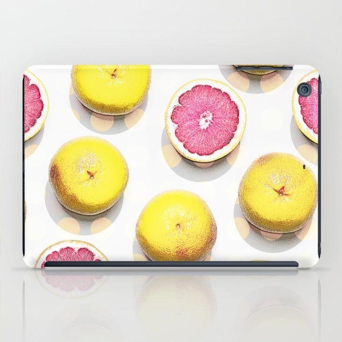 FRUIT I iPad Case #ipadcase #ipad #case #fruitprint #fresh #fruit #grapefruit #citrus #girly #pink #accessory #trending