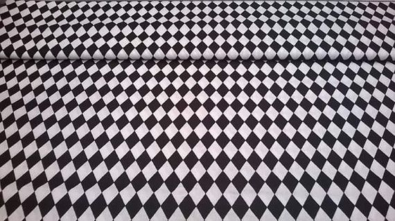Cotton poplin Fabric Black and White by FabrictalesShop on Etsy