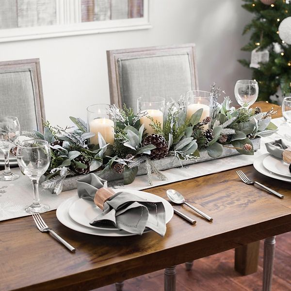 Eucalyptus And Pine Cones Candle Centerpiece From Kirkland S