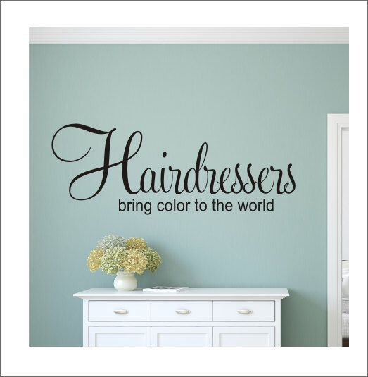 Best Hairsalon Images On Pinterest Hair Salons Vinyl Decals - Custom vinyl wall decals for hair salonvinyl wall decal hair salon stylist hairdresser barber shop
