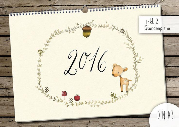 Kalender (DIN A3) von Pipapier auf DaWanda.com (Großer Wandkalender)