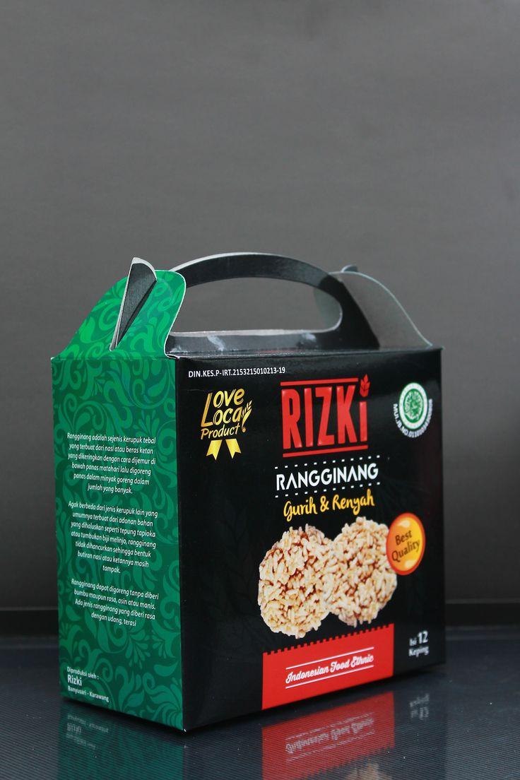 Kemasan jingjing Ranginang Bahan Duplex 260 laminasi glosi  #Branding #Packaging #Label #Product