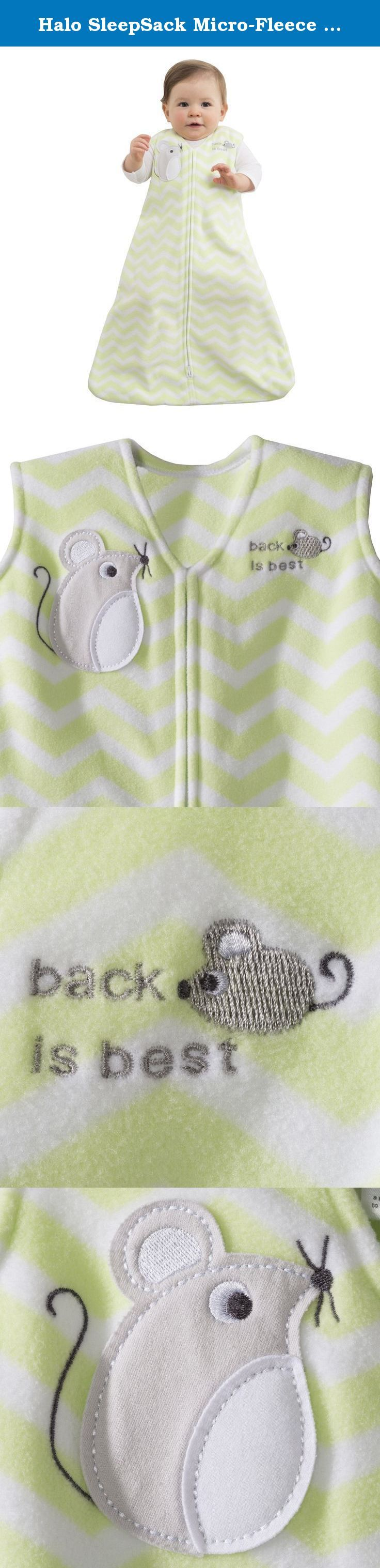 Halo SleepSack Micro-Fleece Wearable Blanket, Green Zig Zag, Small. HALO SleepSack wearable blanket: The Safer Way to Sleep The HALO SleepSack wearable blanket replaces loose blankets in the crib that can cover your baby s face and interfere with breathing. In addition to helping your baby sleep safer, the HALO SleepSack wearable blanket helps your baby sleep better, too. It is a warm cuddly blanket they cannot kick off; ensuring baby sleeps soundly throughout the night. Used in hospital...