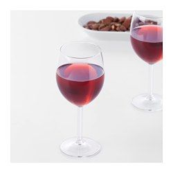 IKEA - SVALKA, Red wine glass, The glass has a large bowl which helps the wine's aromas and flavors to develop better, enhancing your experience.