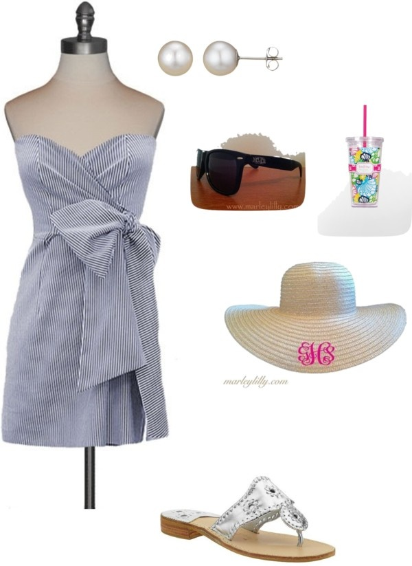 """Perfect for Carolina cup/ Kentucky Derby"" by kt7197 ❤ liked on Polyvore"