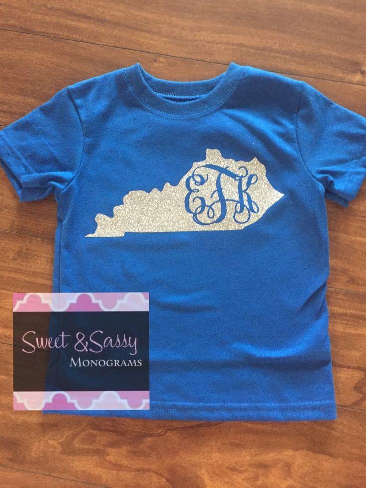 State of Kentucky Monogram Shirt, University of Kentucky, University of Louisville. Kentucky Shirt by SweetSassyMonograms on Etsy https://www.etsy.com/listing/226799239/state-of-kentucky-monogram-shirt