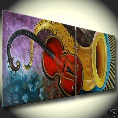 Barato abstrata moderna grande art pintura a leo for Pintura acrilica moderna