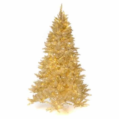 Árbol de Navidad 340 cm márfil 1600 luces LED purpurina | venta online en HOLYART