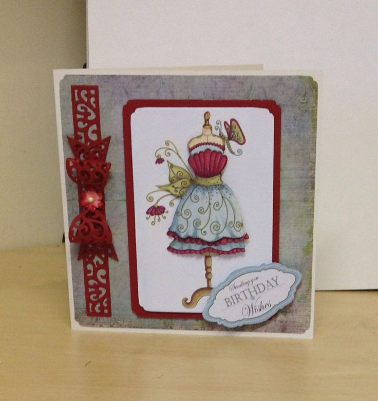 Card made from one of the images from Katy Sue Design Cd