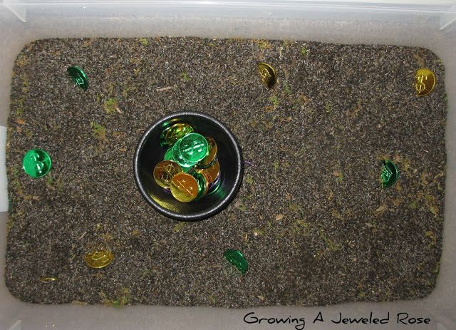 Hunting for Treasure ~ Growing A Jeweled Rose; using thistle seed and anything they would like to dig out