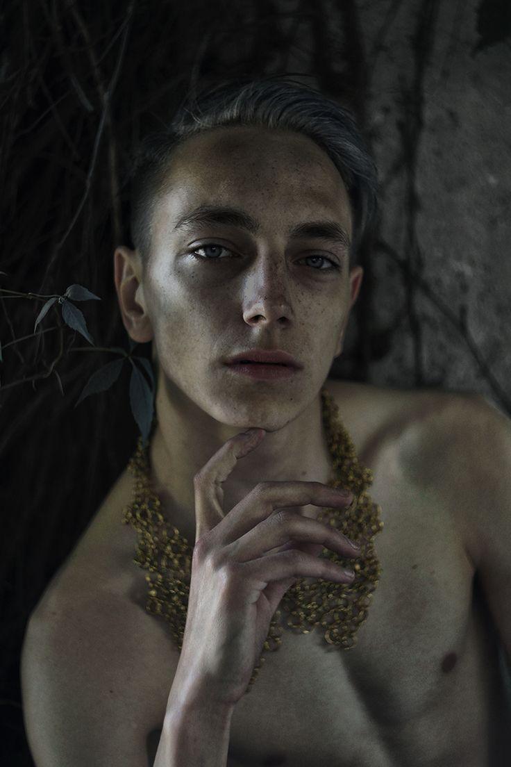 """Dionysia"" — Photographer: Xander Hirsh Necklace: Małgorzata Duras – Duras Design Model: Tomasz Kirsch"