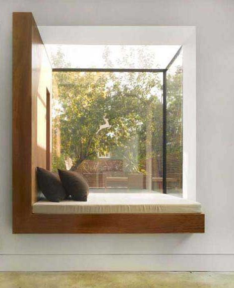 modern window seat- would have these all over the house especially in my  dream bedroom