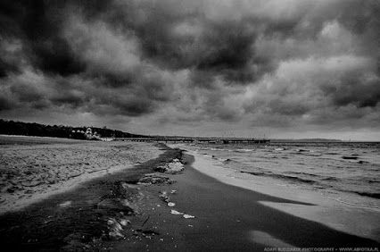 Stormy weather on Gdask's beach
