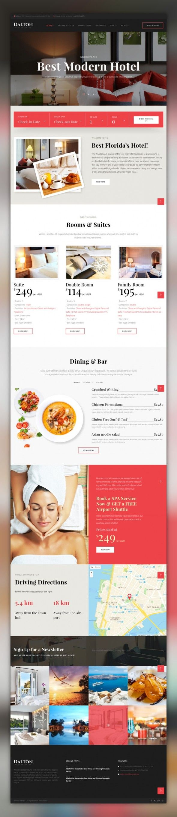 Dalton - Modern Hotel & Resort WordPress Theme CMS & Blog Templates, WordPress Themes, Business & Services, Hotels Templates Dalton is a modern hotel WordPress theme, which is preferred by large and small businesses alike. A hotel room booking functionality makes it perfect for your visitors to reserve rooms onlin...