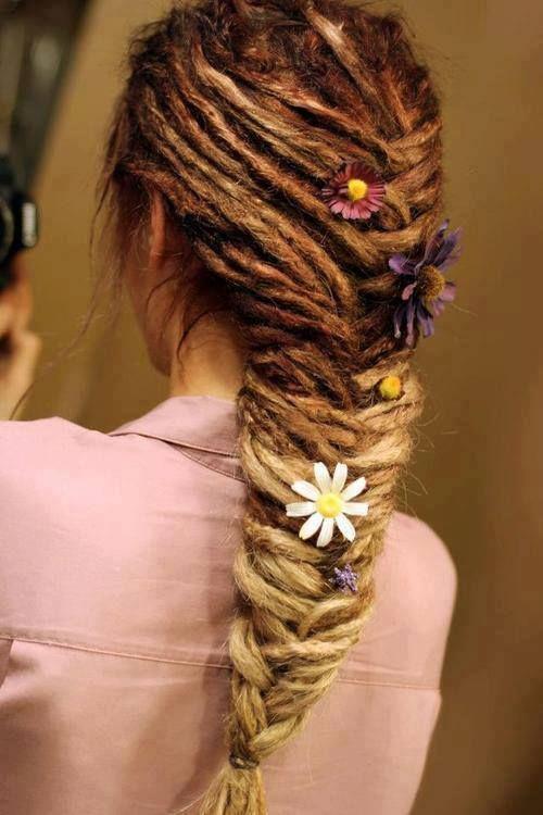 dreadlocks fishtail braid ! Love it !