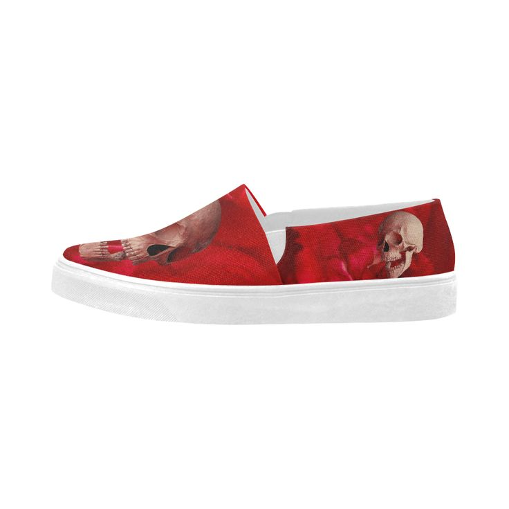 Funny Skull and Rose Naiad Canvas Shoes  Model 1809