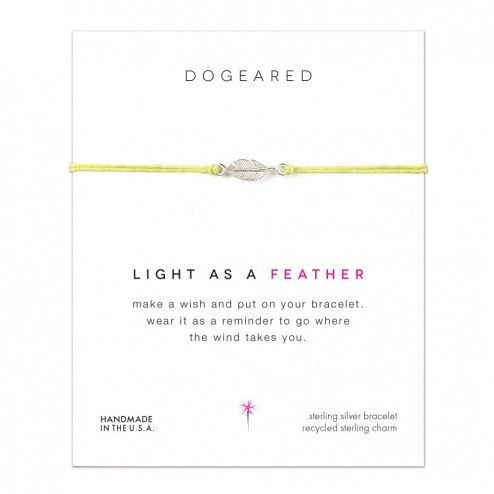 Dogeared Light As A Feather Yellow Linen Bracelet at aquaruby.com