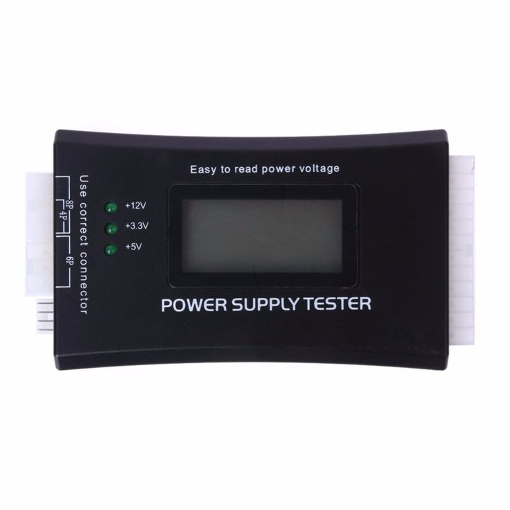 Digital LCD Display PC Computer 20/24 Pin Power Supply Tester Checker Power Measuring Diagnostic Tester Tools FULI