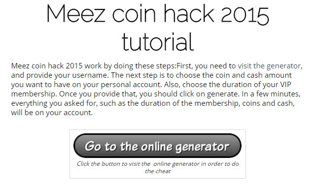 Meez coin hack 2015 | Online working generator and cheats