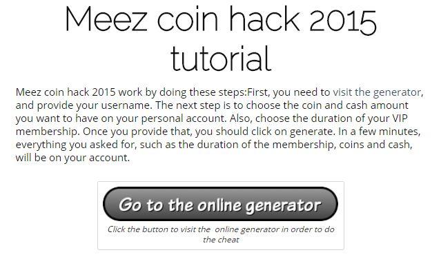 Meez coin hack 2015 | Online working generator and cheats