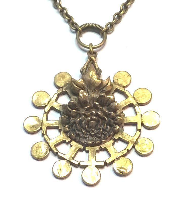 Pentti Sarpaneva Finland  - Beautiful Vintage Bronze Necklace 3012 - Signed #PenttiSarpaneva #Necklace
